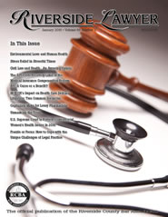 January 2016 - Riverside Lawyer Magazine