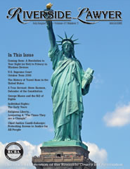 July/August 2017 - Riverside Lawyer Magazine
