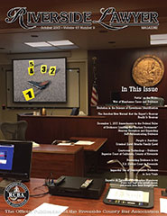 October 2017 - Riverside Lawyer Magazine