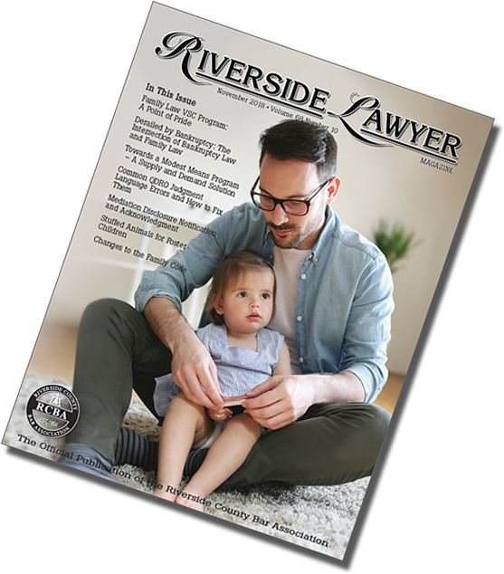 November 2018 Issue of the Riverside Attorney Magazine