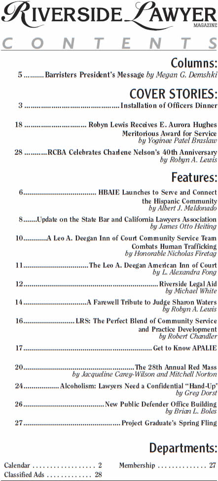 December 2018 Issue of the Riverside Attorney Magazine