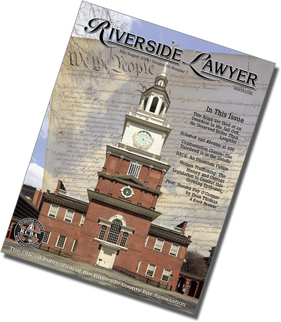July/August 2019 Issue of the Riverside Attorney Magazine