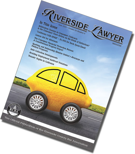 June 2019 Issue of the Riverside Attorney Magazine