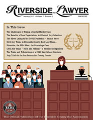 January 2021 - Riverside Lawyer Magazine