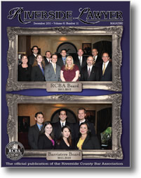December 2011 - Riverside Lawyer Magazine