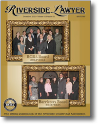 December 2012 - Riverside Lawyer Magazine