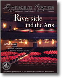 July/August 2010 - Riverside Lawyer Magazine