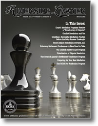 March 2012 - Riverside Lawyer Magazine