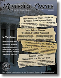 May 2011 - Riverside Lawyer Magazine