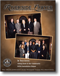 November 2004 - Riverside Lawyer Magazine