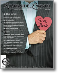 November 2012 - Riverside Lawyer Magazine